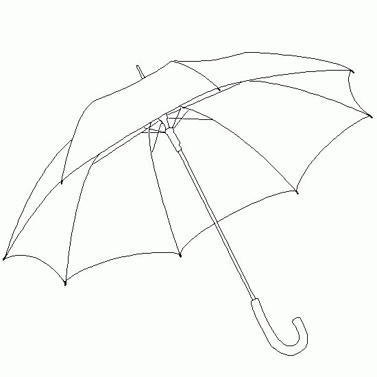 umbrella Coloring Pages Download