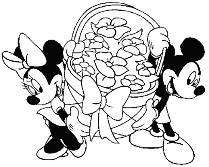 mickey mouse coloring pages free
