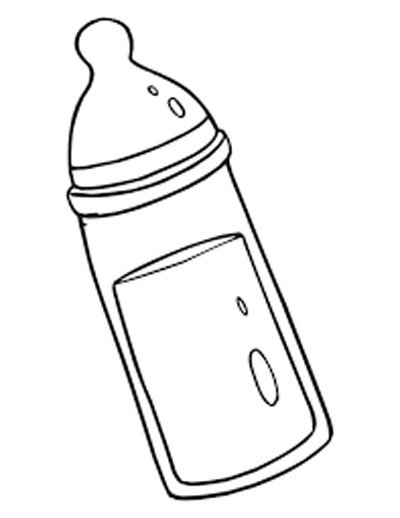 Baby Bottle Coloring Pages