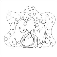 Christmas Baby Jesus Coloring Pages