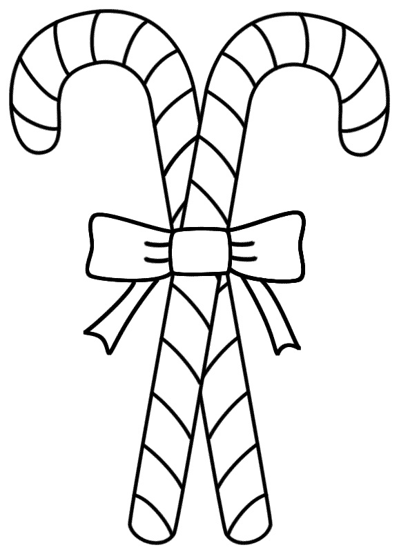 Candy Cane Coloring Page Free