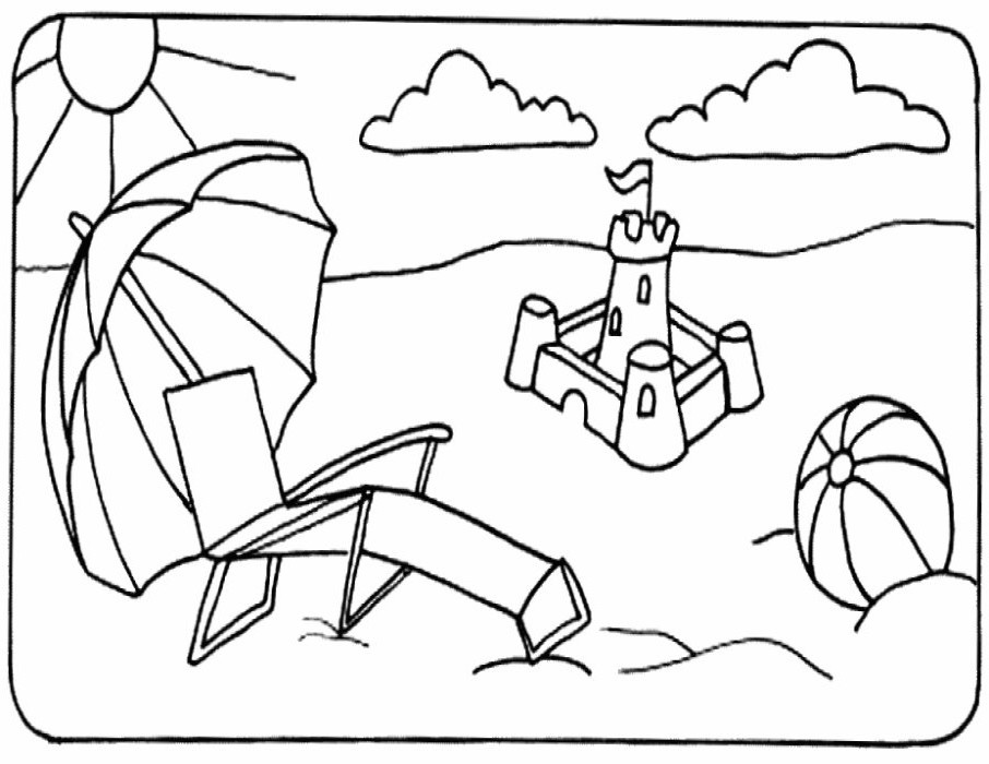 beach-chair-coloring-pages