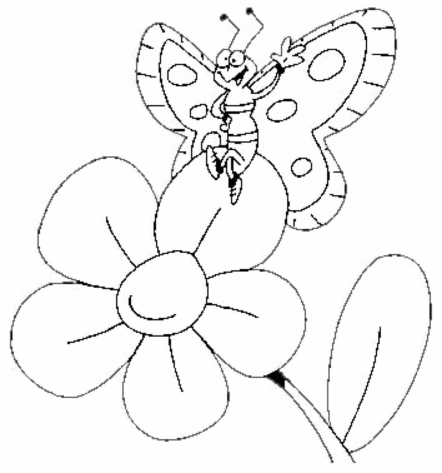 butterfly-and-flowercoloring-pages
