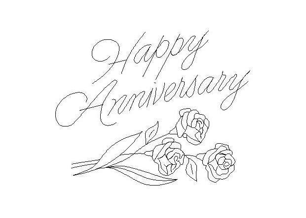 Happy Anniversary Coloring Pages