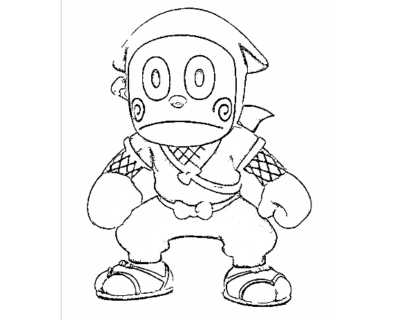 Ninja Hattori Coloring Page