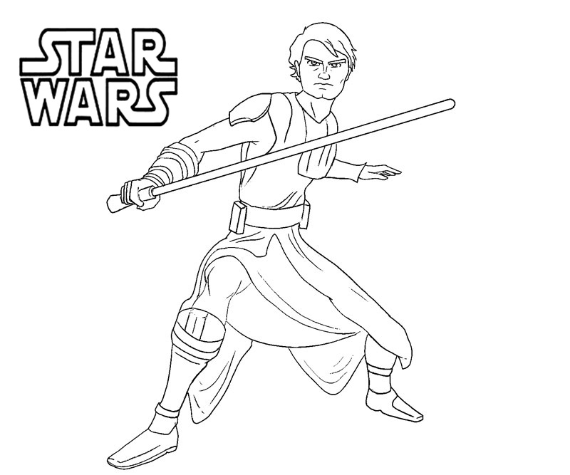 Star Wars Coloring Pages Aanakin Akywalker
