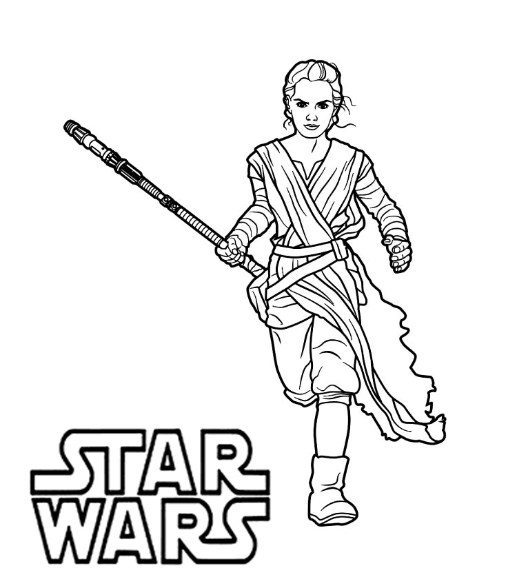 Star Wars Coloring Pages Rey - Coloring And Drawing