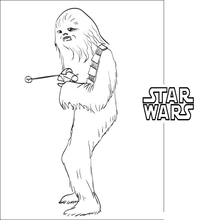 Star Wars Coloring Pages Shewbacca