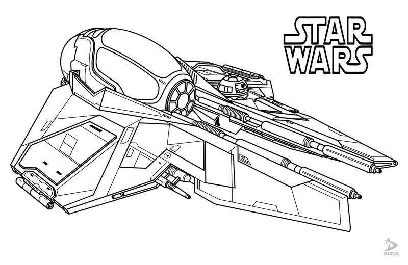 Star Wars Coloring Pages Tie Fighter
