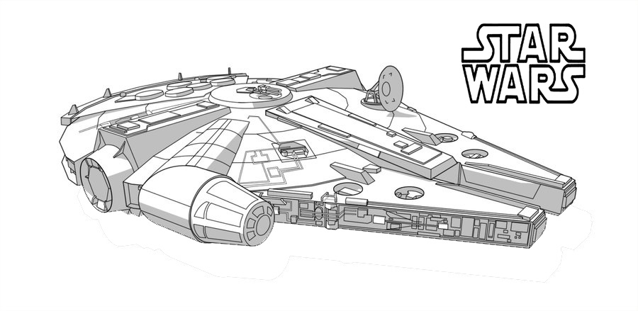 Star Wars Millennium Falcon Coloring Pages