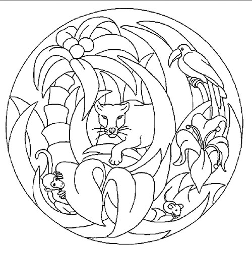Easy Animal Mandala Coloring Pages Free Coloring Pages For Kids Adults Preschoolers