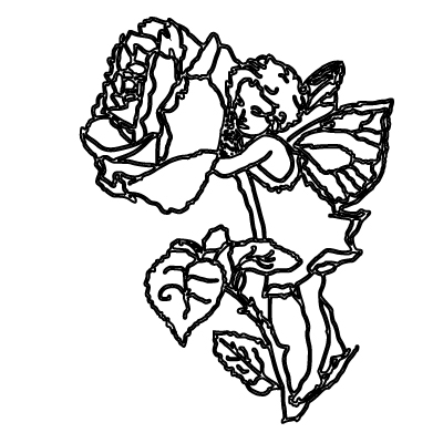 rose coloring pages with fairy  free coloring pages for kids adults preschoolers
